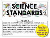 Science Standards Poster Heading and Template
