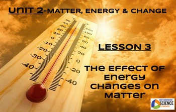NGSS/STEM Lesson 3 The Effect of Energy Changes on Matter