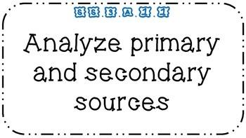 NGSSS Social Studies 3rd Grade Large Print Standards
