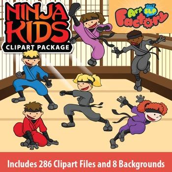 NINJA KIDS Clipart Package