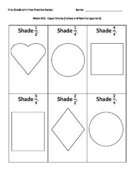 NJ Model Curriculum First Grade Unit Five Practice Packet