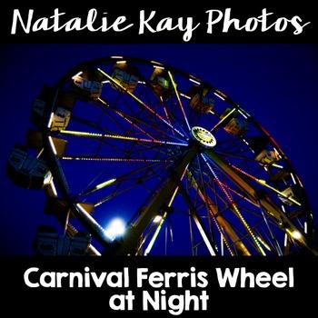 NK Photos - Carnival Ferris Wheel at Night