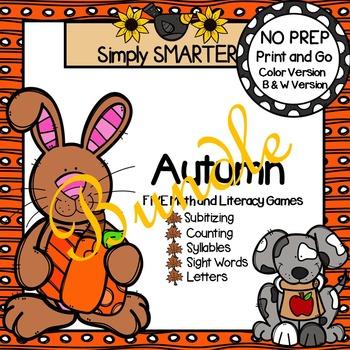 NO PREP Autumn Games Bundle