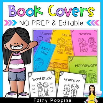 NEW No Prep Book Covers (100+)
