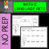 CAT IN THE CIRCUS NO PREP Math and Language Arts