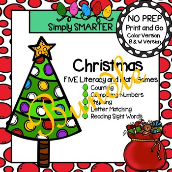 NO PREP Christmas Games Bundle