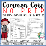 No Prep Reading and Writing: Standard 2 {includes tests an