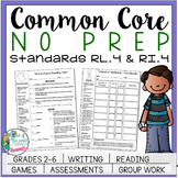 No Prep Reading and Writing: Standard 4 {includes tests an
