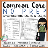 No Prep Reading and Writing: Standard 5 {includes tests an