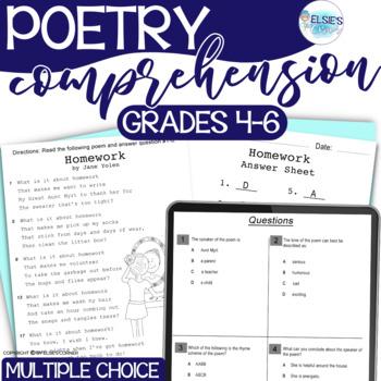 Poetry - Reading Test Prep - grades 4-6 - Common Core Alig
