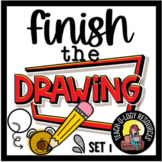 NO PREP FINISH THE PICTURE/ FINISH THE DRAWING - 40 PICS