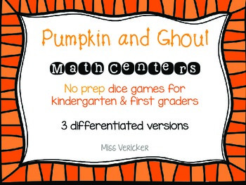 NO PREP Fall and Halloween Dice Math Games