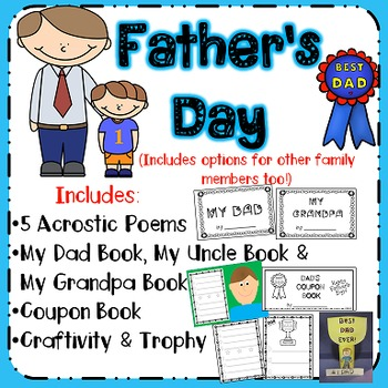 NO PREP Father's Day Activities (includes options for othe