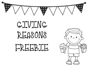 NO PREP - GIVING REASONS