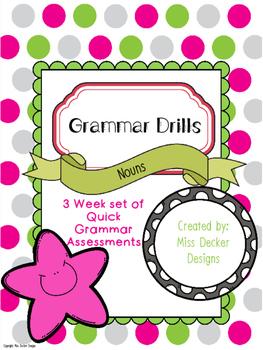 NO PREP- Grammar Drills - Noun