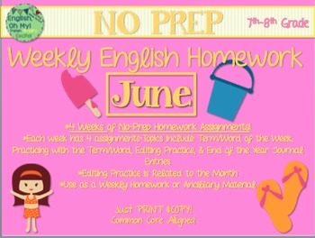 NO PREP Homework {June}:Idioms, Quotations, Words in Conte