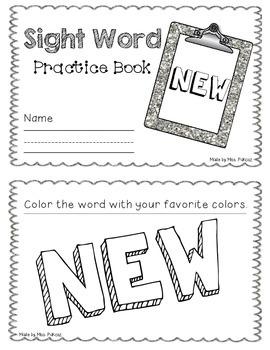 NO PREP Interactive Sight Word Practice Book - NEW