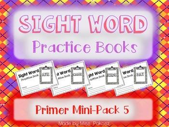 NO PREP Interactive Sight Word Practice Mini-Bundle 5 - Pr