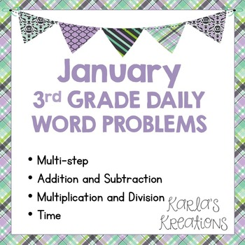 NO PREP JANUARY 3rd Grade Daily Word Problems