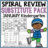 NO PREP January Substitute/Review Pack {Kindergarten}