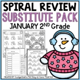 NO PREP January Substitute/Review Pack {2nd Grade}