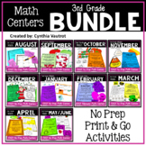 NO PREP! MATH Centers for All Year {3rd Grade}