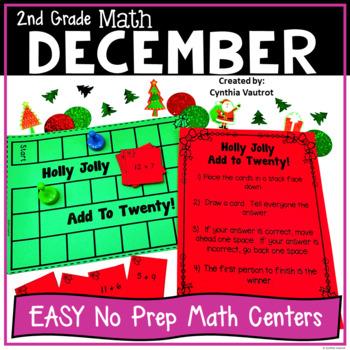NO PREP! MATH Centers for December {2nd Grade}