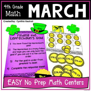 NO PREP! MATH Centers for March {4th Grade}