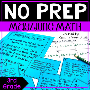 NO PREP! MATH Centers for May & June {3rd Grade}