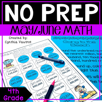 NO PREP! MATH Centers for May & June {4th Grade}