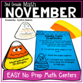 NO PREP! MATH Centers for November {3rd Grade}