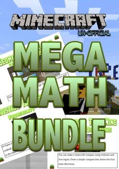 NO PREP MEGA MATHS BUNDLE! Geometry, Measurement and Stati