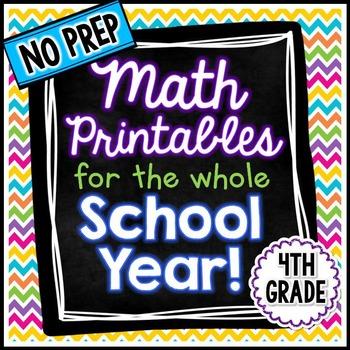 NO PREP Math - 4th Grade