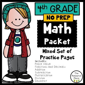 NO PREP Math Packet (4th Grade)