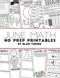 NO PREP Math Printables - JUNE
