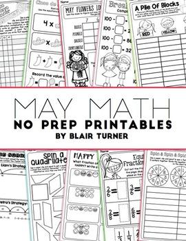 NO PREP Math Printables - MAY
