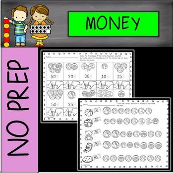 NO PREP Money Printables