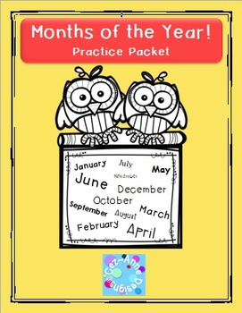 No Prep!!!  Months of the Year Practice Packet