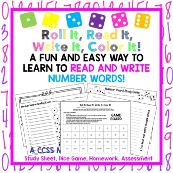 NO PREP! Reading and Writing Number Words,Homework, Assess