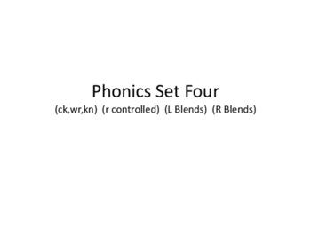 NO PREP Phonics Card Game set Four