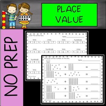NO PREP Place Value Printables