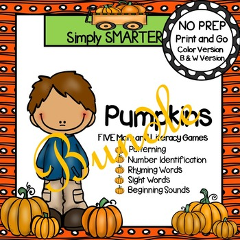 NO PREP Pumpkin Games Bundle