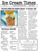 NO PREP Sub Plans Grades 3-5 Ice Cream Style