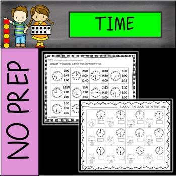 NO PREP Time Printables