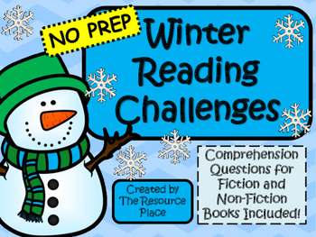 NO PREP Winter Reading Challenges!