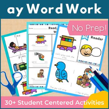 Word Work ay Word Family Long A NO PREP