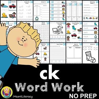 Word Work ck Digraphs and Trigraphs NO PREP