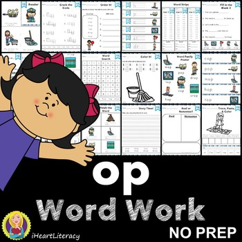 Word Work op Word Family Short O NO PREP