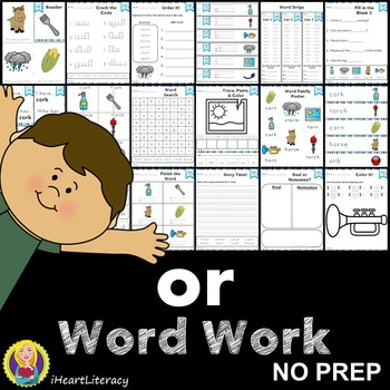 Word Work or R Controlled Vowels NO PREP