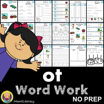 Word Work ot Word Family Short O NO PREP